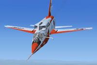 Screenshot of F-107A in flight.