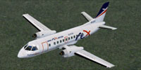 Screenshot of Regional Express (REX) SAAB 340B in flight.