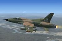 Screenshot of Republic F-105D Thunderchief in flight.