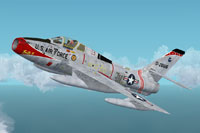 Screenshot of Republic F-84F in flight.