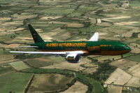Screenshot of Republic Of Wadiya Boeing 777-200 in flight.