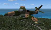 Screenshot of Republic RF-84F Thunderflash in flight.