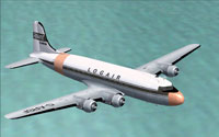 Screenshot of Douglas C-54B in flight.