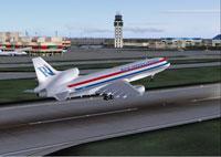 Screenshot of Rich Int'l Lockheed L-1011 TriStar taking off.