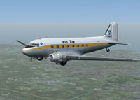 Screenshot of Rig-Air Ltd. Douglas DC-3 in flight.