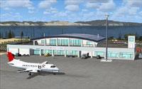 Screenshot of Rishiri Airport.