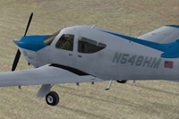Screenshot of Rockwell AC11 Commander 114 N548HM on the ground.