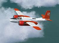 Screenshot of Rosenbalm Aviation A-26C in flight.