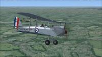 Screenshot of Royal Air Force DeHavilland Gipsy Moth in flight.