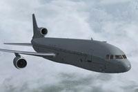 Screenshot of Royal Air Force Lockheed L-1011 TriStar in flight.