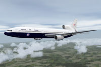 Screenshot of RAF Lockheed L-1011 TriStar in flight.