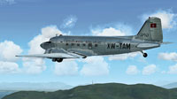 Screenshot of Royal Air Lao Douglas C-47 in flight.