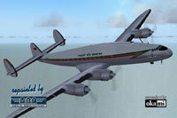 Screenshot of Royal Air Maroc Lockheed L-749 in flight.