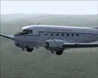 Screenshot of Royal Aircraft Establishment DC-3 in flight.