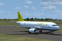 Screenshot of Royal Brunei Airlines Airbus A319 on the ground.