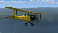 Screenshot of Royal Canadian Air Force DH Gipsy Moth in flight.