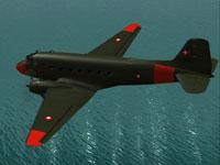 Screenshot of Royal Danish Douglas DC-3 in flight.