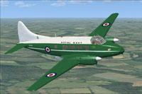 Screenshot of DeHavilland Sea Devon XK895 in flight.