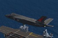 Screenshot of Royal Navy F-35B 800 NAS in flight.