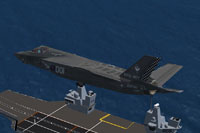 Screenshot of Royal Navy F-35B 801 NAS in flight.