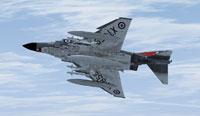 Screenshot of Royal Navy McDonnell F-4K Phantom in flight.