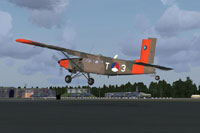 Screenshot of Royal Netherlands Air Force Turbo Porter taking off.