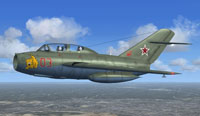 Screenshot of Russian Private MiG-15 UTI in flight.