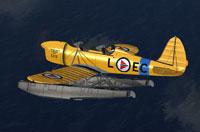 Screenshot of Ryan ST-M flying over water.
