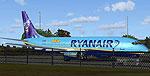 Screenshot of Ryanair Boeing 737-800 on the ground.