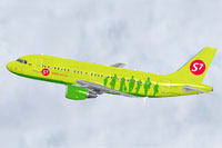 Screenshot of S7 Airlines Airbus A319-100 in flight.