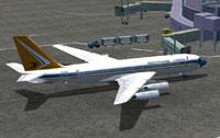 Screenshot of SAA Boeing 707-420 on the ground.