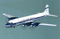 Screenshot of SAA Douglas DC-7B in flight.