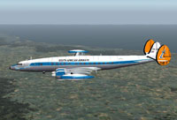 Screenshot of SAA Lockheed L-1049 Constellation in flight.