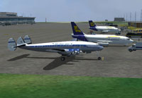 Screenshot of SAA Lockheed L049 Constellation on the ground.