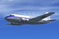 Screenshot of SAAB-90 Scandia in flight.