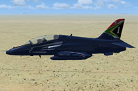 Screenshot of SAAF BAE Hawk Silver Falcons in flight.