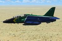 Screenshot of SAAF Hawk SA in flight.