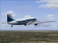 Screenshot of SAETA Douglas DC-3 in the air.