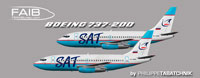 Profile view of SAT Boeing 737-200 ADV.