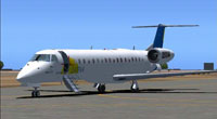 Screenshot of SATENA Embraer ERJ 145 on the ground.