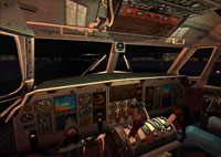 Virtual Cockpit at night.