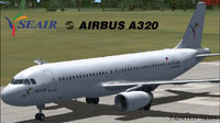 Screenshot of plain white SEAir Airbus A320.