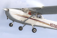 Screenshot of SIU Aviation Cessna 172 N5318G in flight.