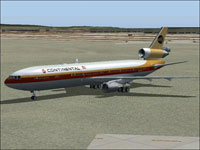 Screenshot of SMS McDonnell Dougls MD-11 on the ground.