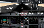 Screenshot of SMS Overland Airbus A330/A340 cockpit.