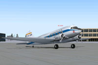 Screenshot of SPANTAX Douglas DC-3A-197 on the ground.
