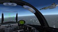 View from Saab Viggen cockpit.