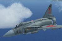 Screenshot of Saab Viggen in flight.