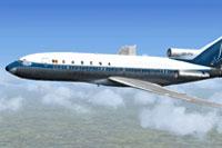 Screenshot of Sabean Boeing 727-100 in flight.