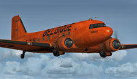 Screenshot of Belgique Douglas C-47 in flight.